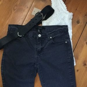 Forever 21 US27 slate gray distressed jeans